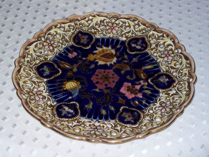 Zsolnay Blue Plate