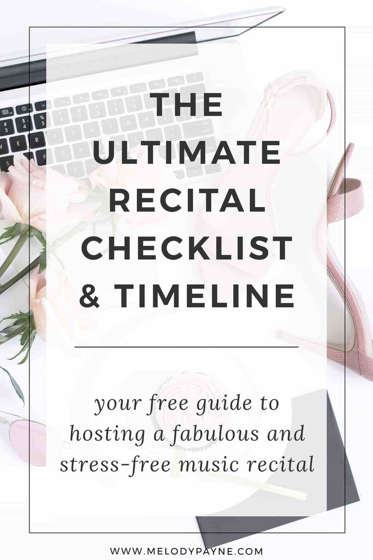 Is your studio recital coming up soon? Need help organizing the details (decorations, food, gifts, and awards) and planning the perfect recital? My free recital planning and checklist can make the process efficient, stress-free, and easy! Download the checklist and start planning the easiest recital you've ever hosted!