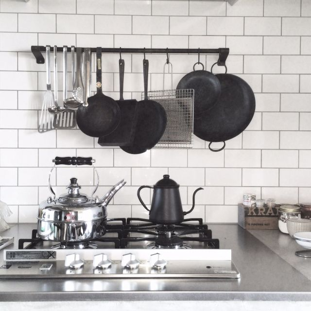 コンロ/サブウェイタイル/男前/リノベーション/キッチンのインテリア実例 - 2015-01-23 05:57:54 | RoomClip(ルームクリップ)