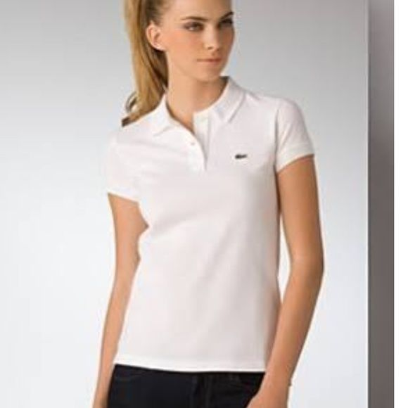 Lacoste pique polo shirt size 38 Lacoste pique polo shirt size 38 us size small. Only worn few times. First picture is only for style guide. Color is dark navy Lacoste Tops