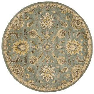 Nourison Jaipur Light Blue Rug (6' x 6') | Overstock.com Shopping - Great Deals on Nourison Round/Oval/Square