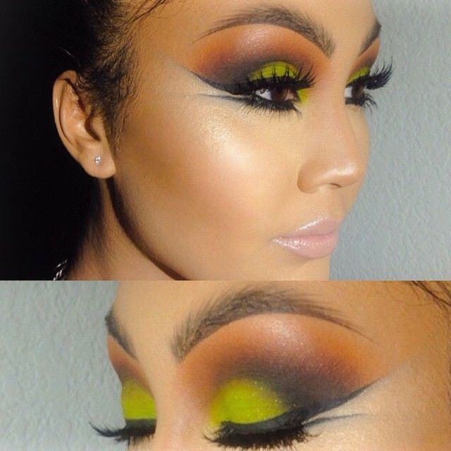 Hi Dolls✨ Here's Lastnights Inspired look by @nikkietutorials & @sonjdradeluxe Recent Makeup Tutorials 💚 ______________________________________  Face | Mac Studio Fix Fluid C5 | @anastasiabeverlyhills Cream Contour Kit Medium | Set Highlight & Contour With ABH Powder Contour Refills ( Banana & Copper Brown ) | Highlight @bobbibrown Bronze Glow ✨ ______________________________  Eyes| @urbandecaycosmetic ️️Electric Palette ( Thrash ) Lid | @anastasiabeverlyhills Single Eyeshadow ( Morocco )…