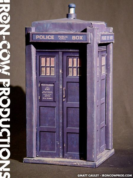 Iron-Cow Productions » The TARDIS Pepakura: Papercraft Minis Book, Tardis Paper, Pepakura Papercraft, Doctors Who, Papercraft Downloads, Free Papercraft, Paper Crafts, Paper Toys, Paper Models