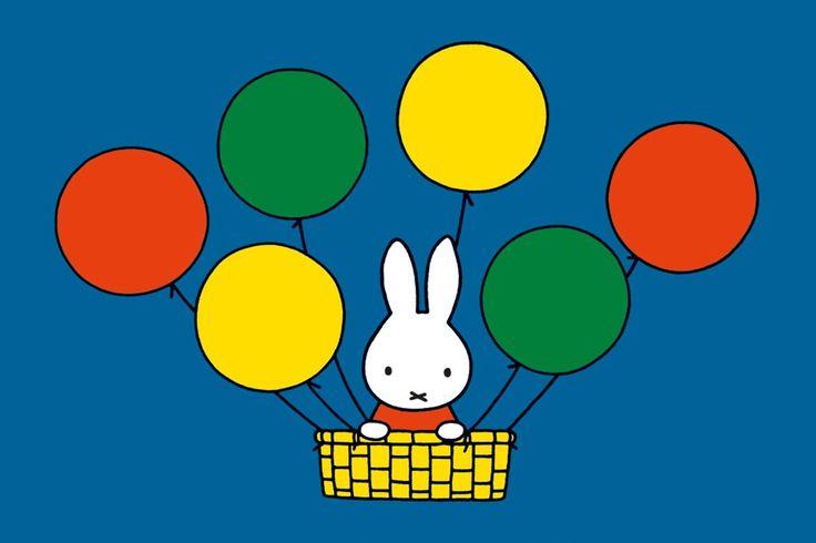 Nijntje in de luchtballon.