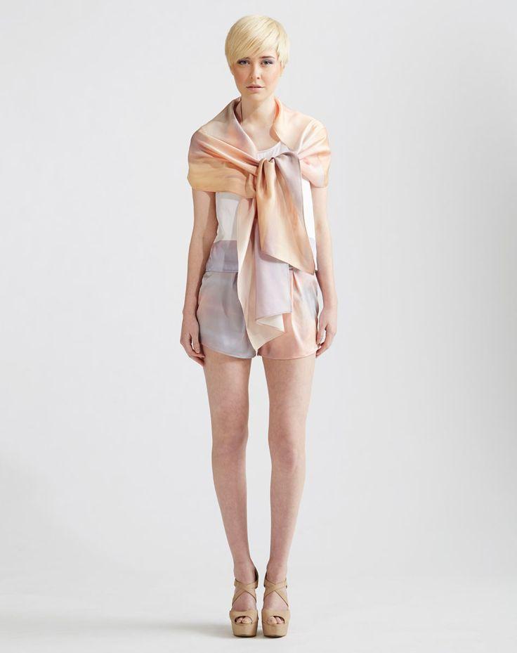 Sunrise Series Silk Wrap and Stretch Silk Shorts www.jenkinsandjane.com.au