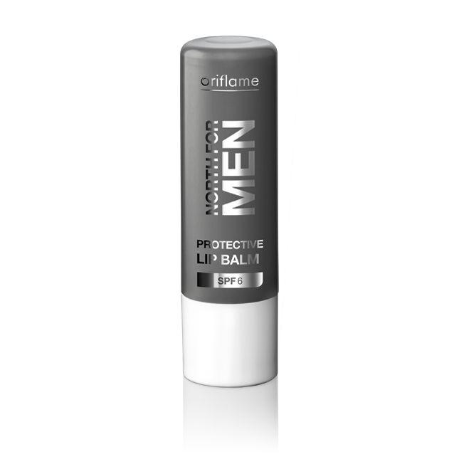 Bálsamo Labial Protector SPF6 North For Men. Bálsamo labial hidratante, nutritivo y protector con el complejo Artic Pro Defence y Vitamina E. SPF 6. 4.5  g. Código:20160 #oriflame
