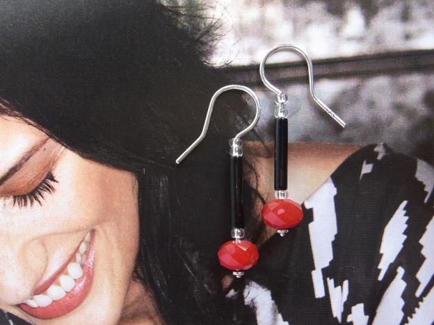 Chic - Ohrhänger Rot & Schwarz, Black & Red von Schmuckeritis auf DaWanda.com