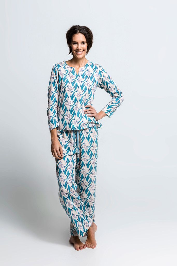 Moonbird Organic Cotton Koi Karma Tunic Pyjamas