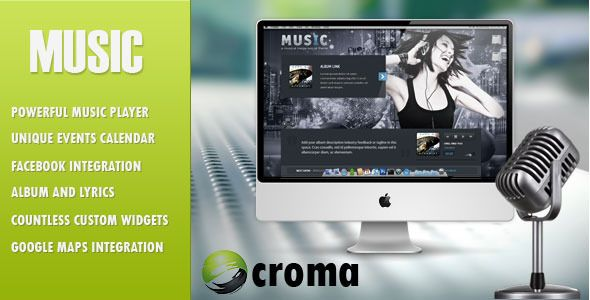 Music - WordPress Theme for Musicians, Music Band and Facebook App