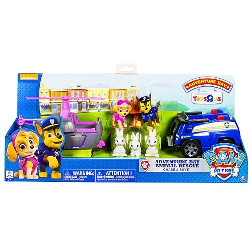 PAW Patrol, Adventure Bay Rescue Animal Rescue Set, Chase & Skye, Toys R Us Exclusive