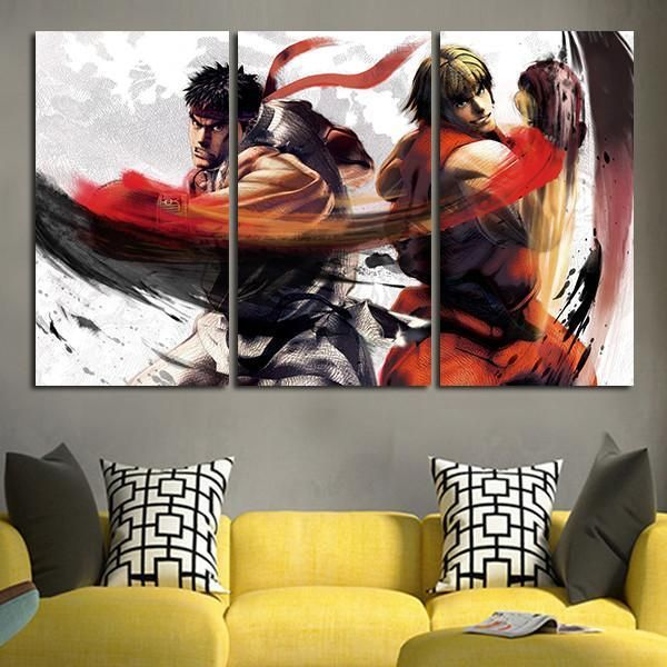 Street Fighter V Ryu And Ken Wall Art Canvas Canvas Wall Art