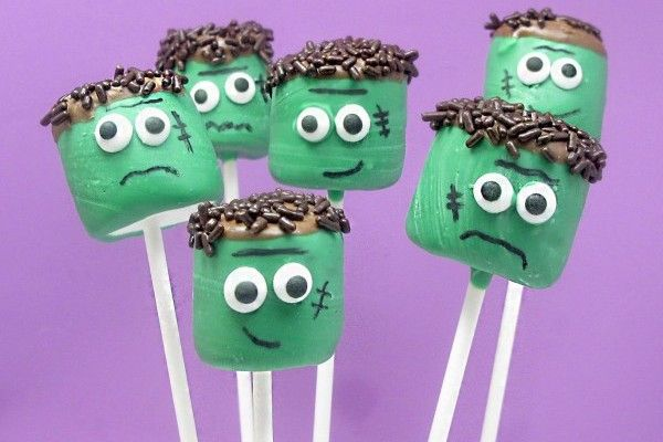 Google Image Result for http://www.celebrations.com/usrimg/editor-dianaheather-5522/halloween-crafts-kids-frankenstein-pops.jpgIdeas, Halloween Parties, Marshmallow Pops, Decor Cookies, Cake Pop, Classroom Treats, Halloween Treats, Marshmallows Pop, Frankenstein Marshmallows
