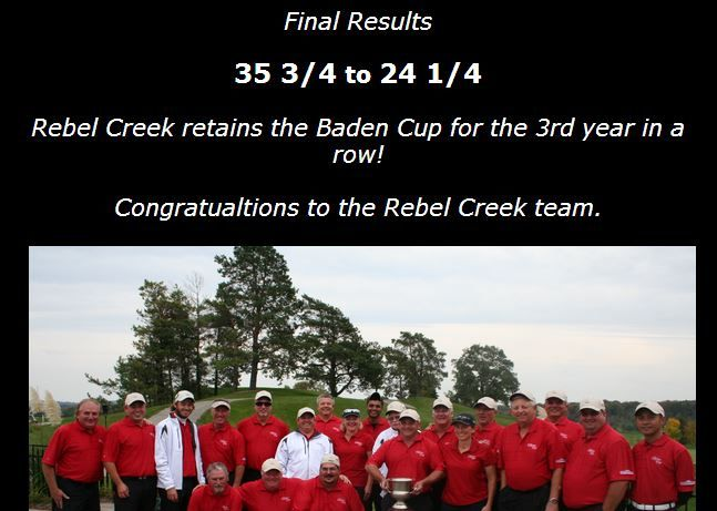 Won the 2013 Baden Cup