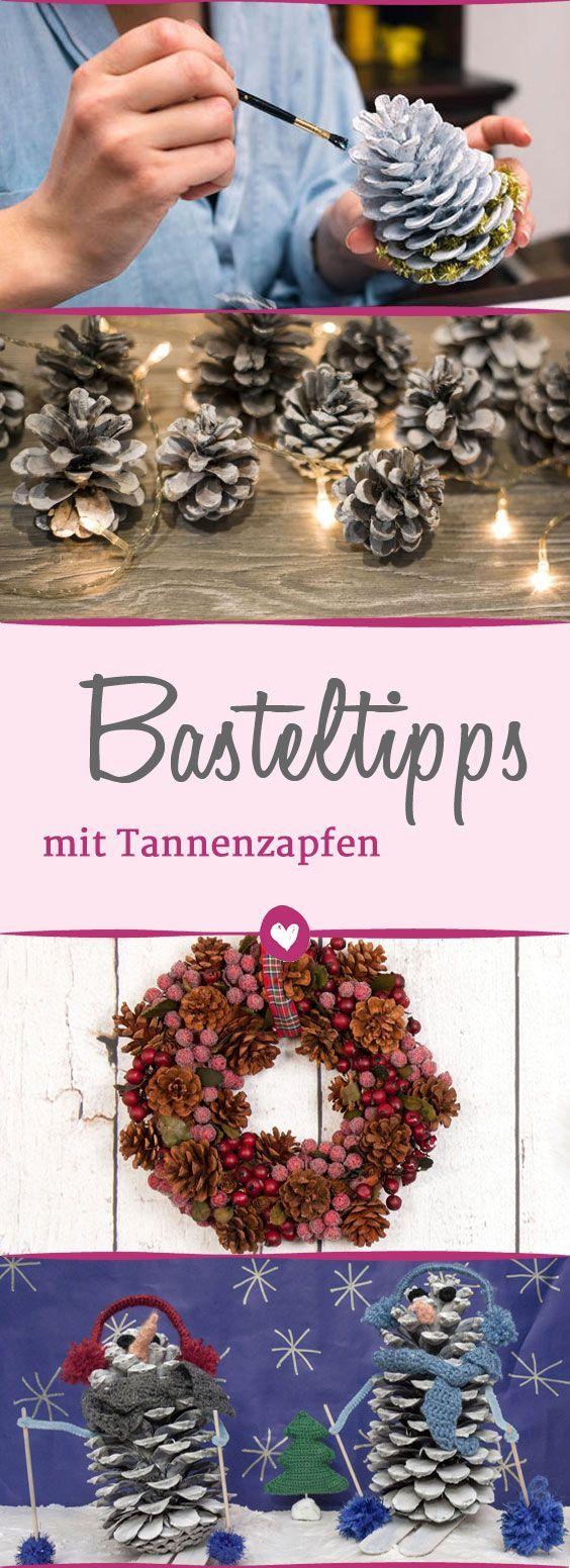 Eine hübsche Bastelei für #Weihnachtszeit : #Deko aus #Tannenzapfen #DIY
