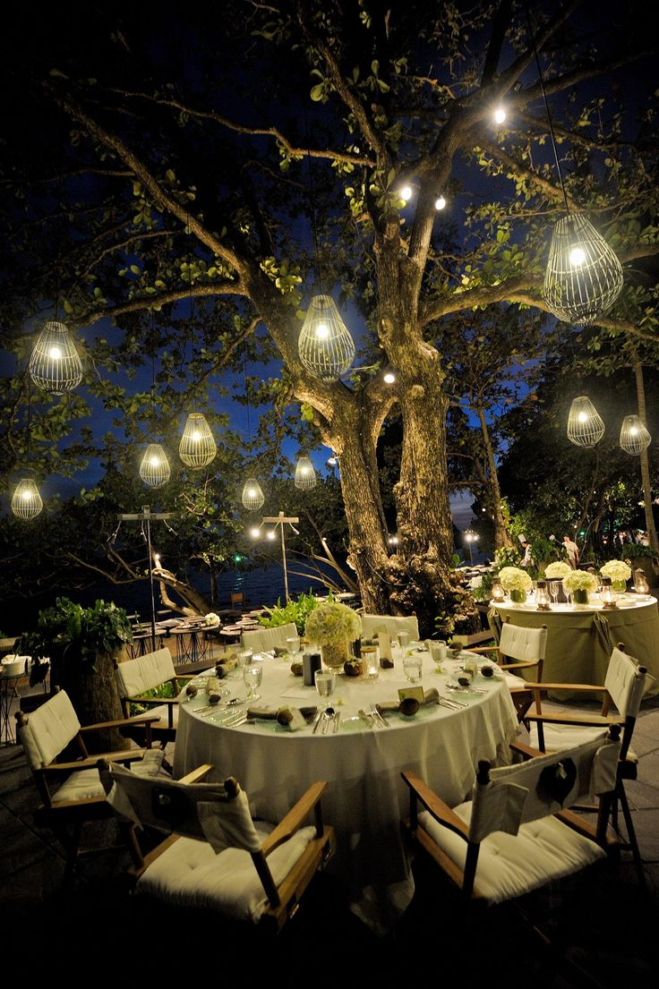 Dinner al fresco in an amazing location.  Rayavadee, Krabi, Thailand.    www.rayavadee.com #thailand