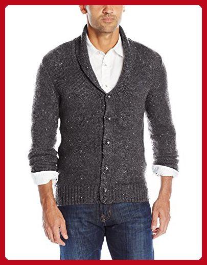 Original Penguin Men's Lambswool Blend Shawl Collar Cardigan Sweater, Dark Charcoal Heather, Small - Mens world (*Amazon Partner-Link)