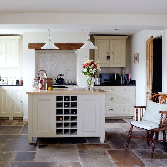Cosy country kitchen | Kitchen planning ideas | housetohome.co.uk  Like the floor tiles.  Don't like the rest of the look.