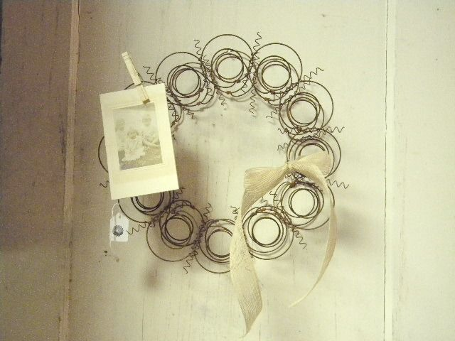 Really like this shabby chic wreath made from old bed spings, My So Called Junky Life