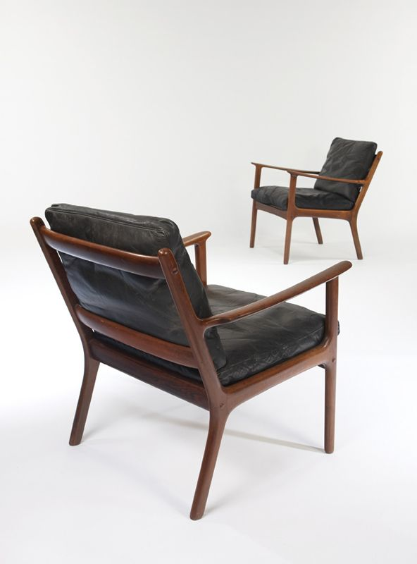 Ole Wanscher; Armchairs, c1960 CHAIRED Pinterest Auction and Armchairs