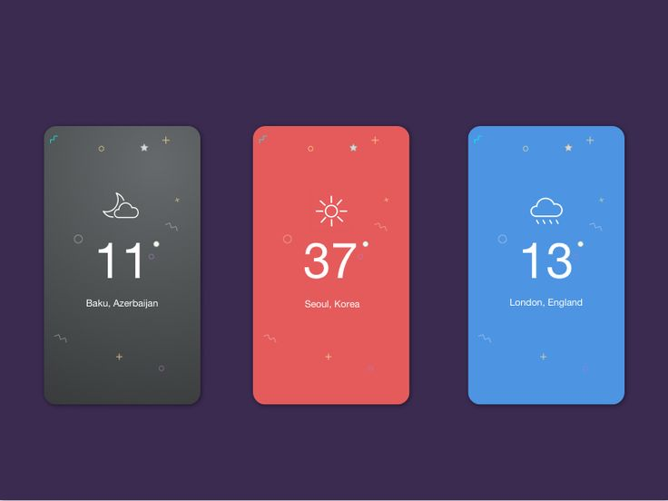 Weather App Screen for iPhone 6 By Igbal Mammadov