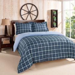 Tommy Hilfiger Grayson Blue Plaid Comforter Set Full