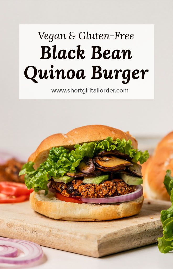 Vegan Black Bean Quinoa Veggie Burgers Veggie Burger Toppings Veggie Burgers Recipe Veggie Burger Recipe Easy