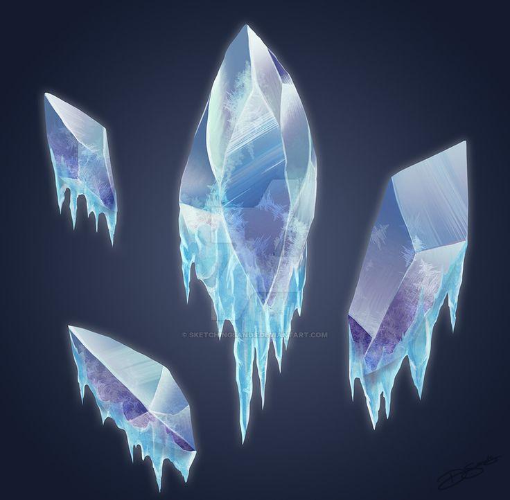 Ice Crystals by SketchingSands.deviantart.com on @DeviantArt