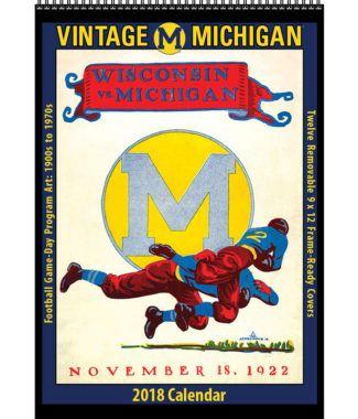 2018 Vintage Michigan Wolverines Football Calendar