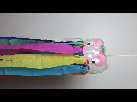 DIY Rainbow Octopus with PET Bottle and Colored Papers