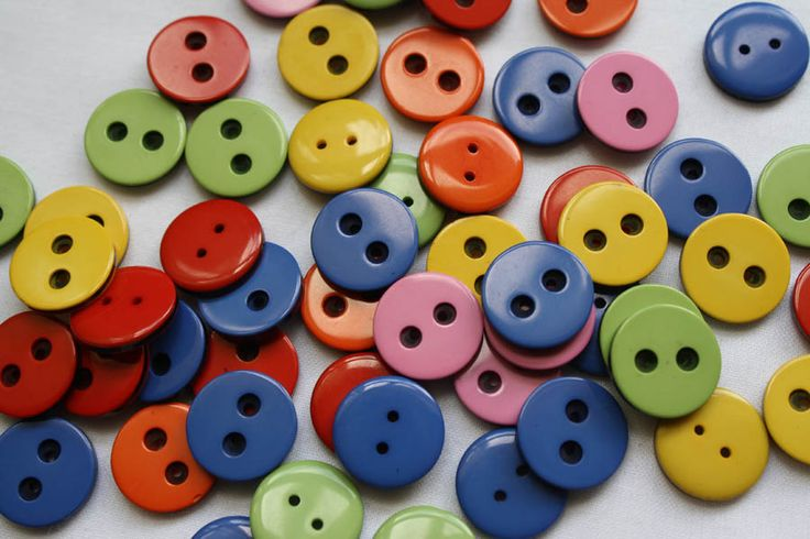 Buttons are perfect as a pretty finishing touch to handmade cards, gift tags, scrapbooks, sewing and much more! Selection of plastic buttons color mach. Price shown per 1 button. Each button is 15mm