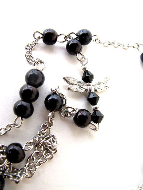 Anklet dragonfly anklet dragonfly jewelry by APlusJewelryCrafts