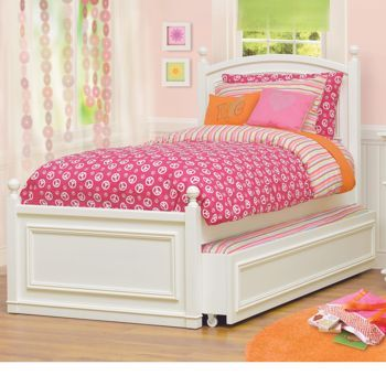 this claire annie matching trundle bed would help me have friends over and save space - Girls Twin Bed Frame