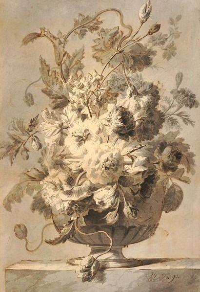 Marie Antoinette's Playhouse:  Gerrit Jan van Leeuwen Flowers in a Vase 1793