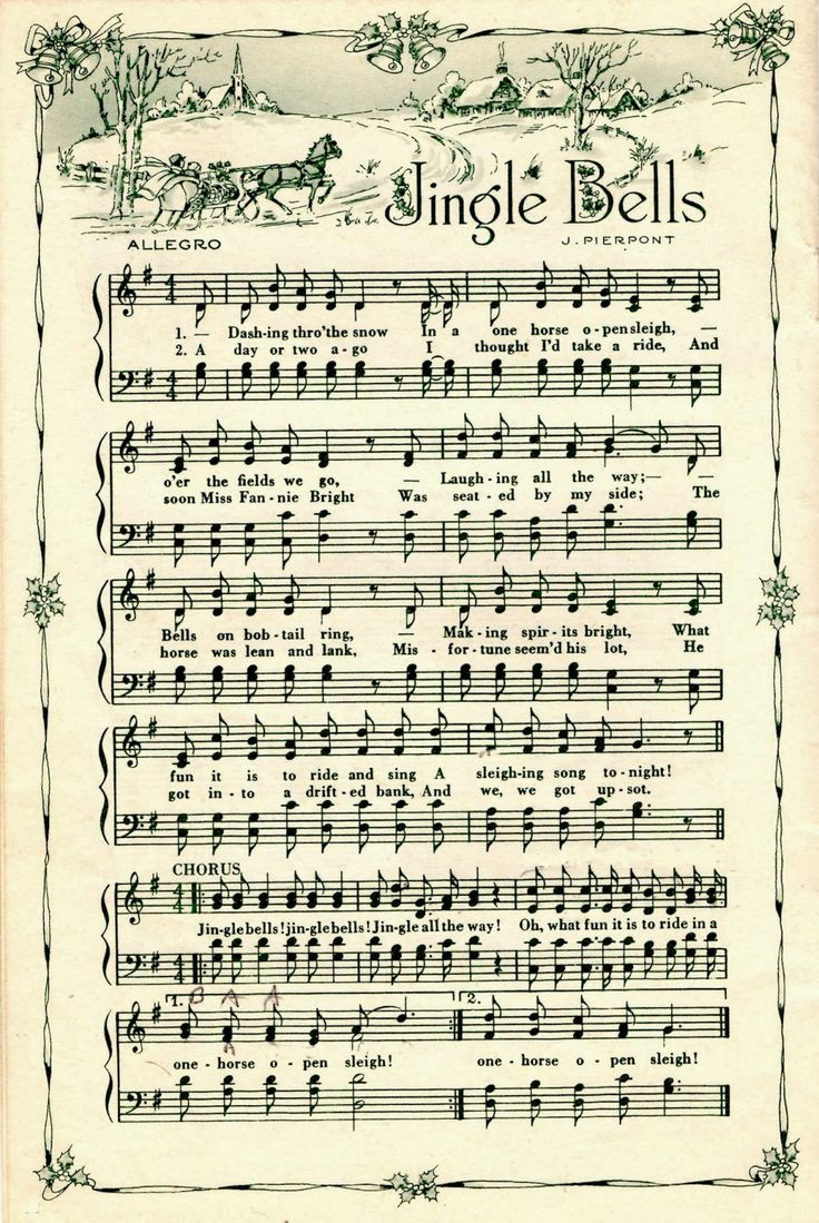 Vintage Christmas Sheet Music Pictures