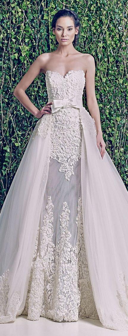 Zuhair Murad F/W 2014-2015 #sheer #elegance #weddinggown #LuxxieBoston