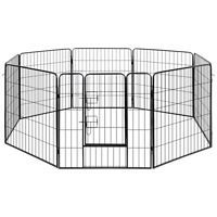 Dog Playpen Crate Fence Puppy & Pet Exercise Cage Kennel 8 Panel #dogplaypen