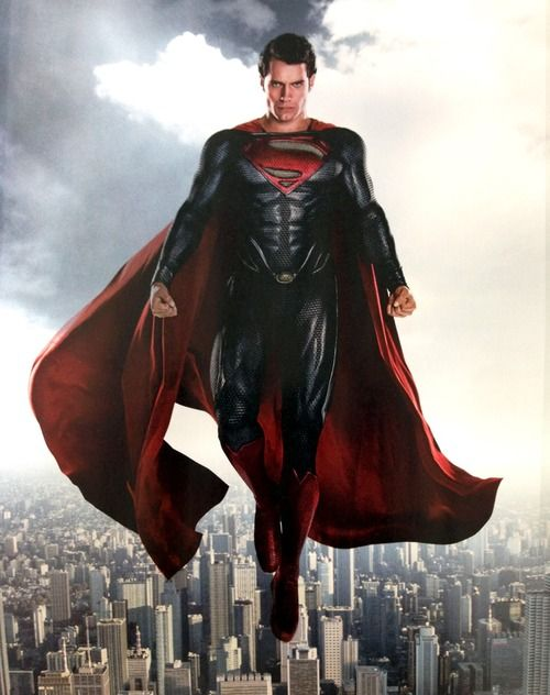 Henry Cavill as The Man of Steel. Superman