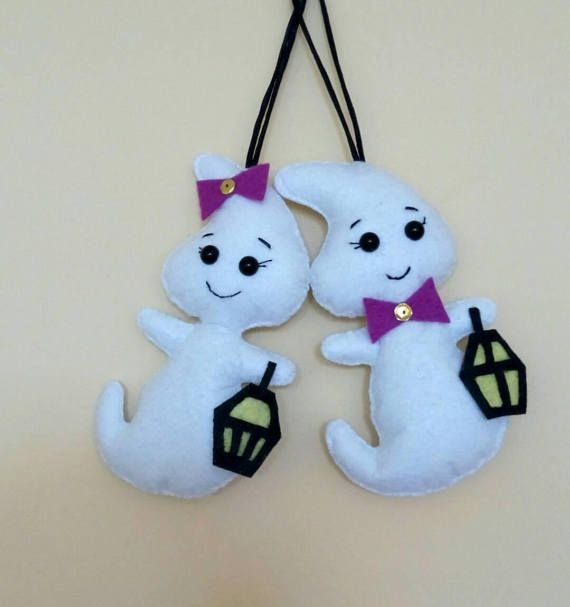 Halloween ghost. Two felt ghost.Halloween decor garland.Party