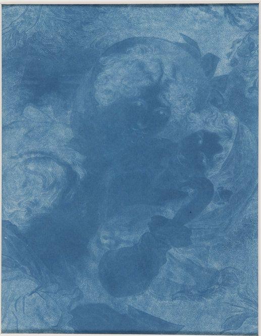 "Sir John Herschel, ""A Scene in Italy,"" 1839, Cyanotype made from engraving"