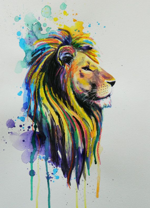 Lion of a different color by LucasPorettiArt on Etsy