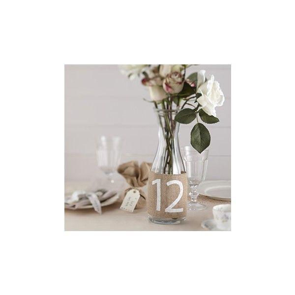 Numeri per Tavolo in Juta - matrimonio fai da te di Decochic su DaWanda.com