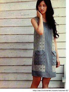 Платье с карманами. Крючок