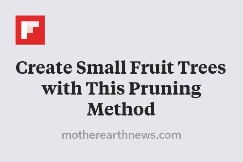 Create Small Fruit Trees with This Pruning Method http://flip.it/9BaM9