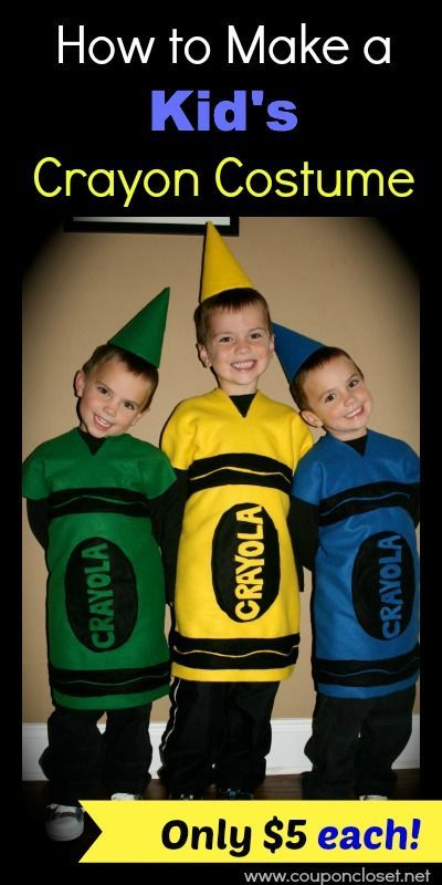 How to Make a Crayon Costume for only about $5!