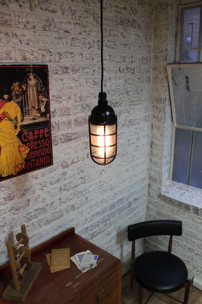 #Industrial Bunker cage #pendants are sleek, simple and edgy. More at www.FatShackVintage.com.au