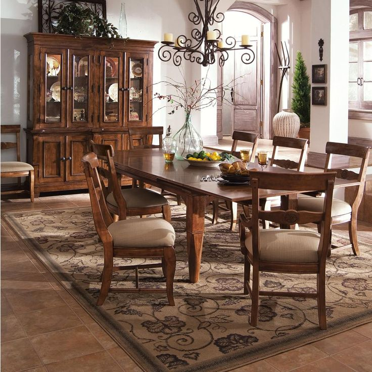 Kincaid Tuscano Solid Wood Refectory Leg Table By Dining Rooms Outlet