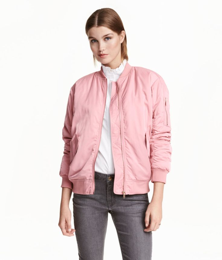 Pink bomber jacket from H&M