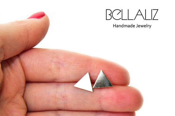 Check out this item in my Etsy shop https://www.etsy.com/listing/470544916/tiny-triangle-stud-earrings-tiny-post