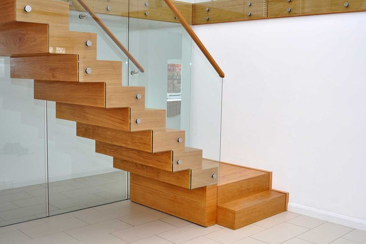 Furniture: Chartwood Designing Staircase With Clear Glass Fence ...