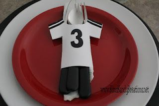 Free Printable Soccer Silverware jersey - so cute for a soccer birthday party